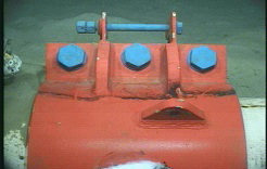 Installation of Subsea pipeline repair clamp to prevent potential failure after dented.
