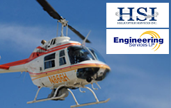 Helicopter pipeline aerial surveillance.